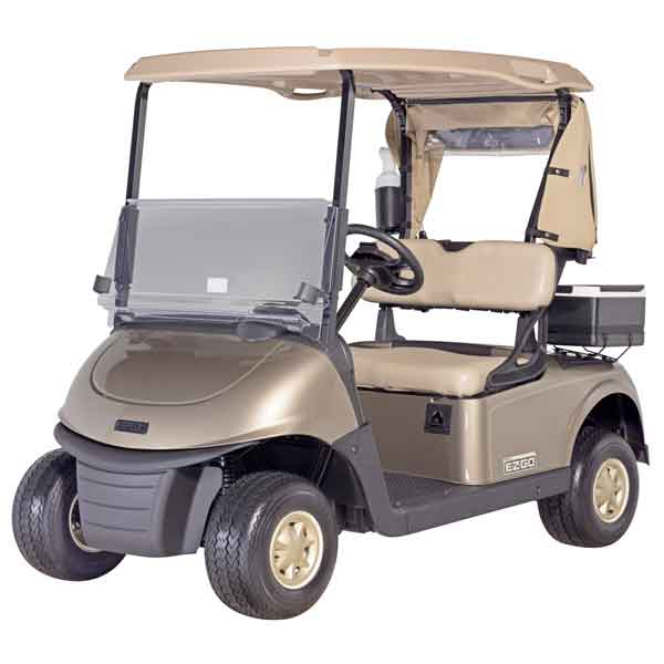 EZGO-Next-Generation-RXV-Almond-Front-3-4-Drivers-Side
