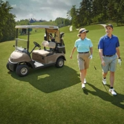 EZGO-Next-Generation-RXV-Walking-from-Car-on-Course