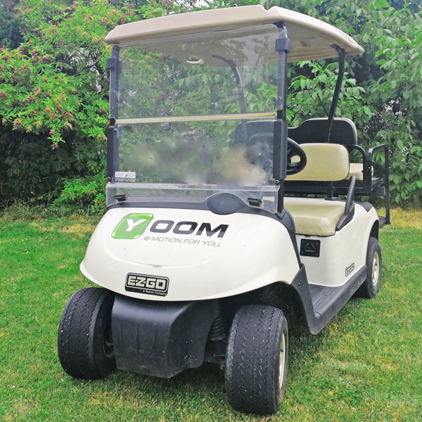 Gebrauchtes-Golfcart-EZGO-RXV-weiss-seitenansicht