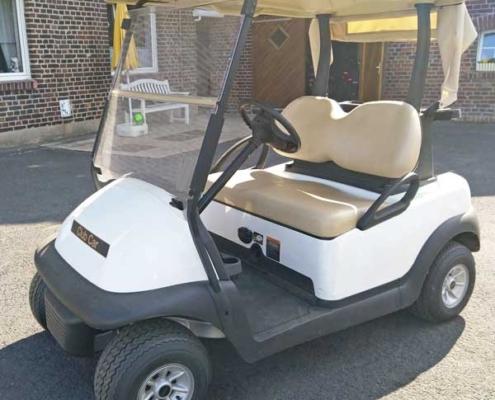 ClubCar-elektro-2-Sitzer-weiß-Seitenansicht-rechts