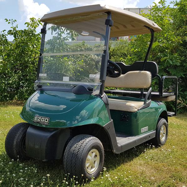 Gebrauchte-Golfcarts-EZGO-RXV-grün-FlipFlop-Seitenansicht-links-nr1600x600