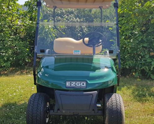 Gebrauchte-Golfcarts-EZGO-TXT-48-grün-Frontansicht-600x600