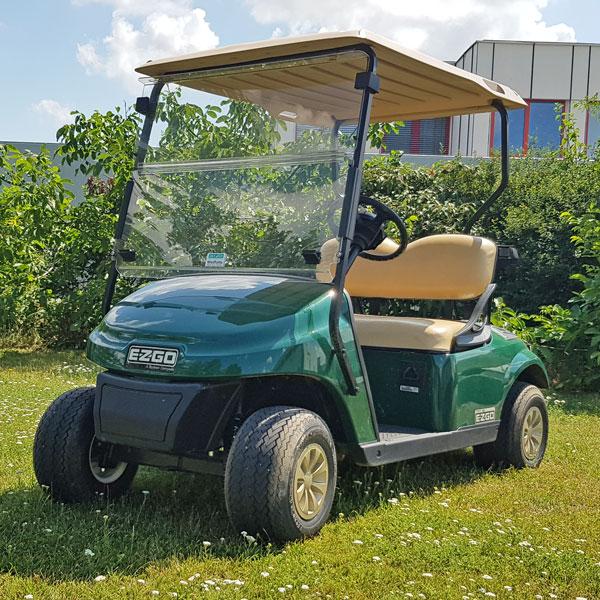 Gebrauchte-Golfcarts-EZGO-TXT-48-grün-Seiteansicht-links-nr2-600x600