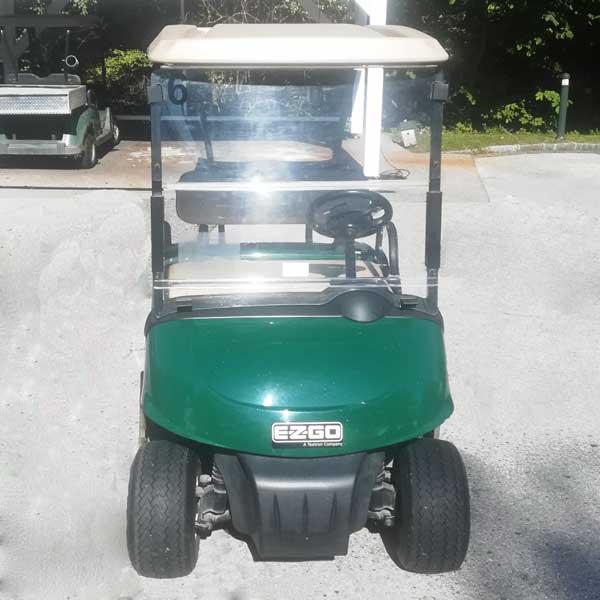 Gebrauchte-Golfcarts-EZGO-RXV-grün-2016-front-600x600
